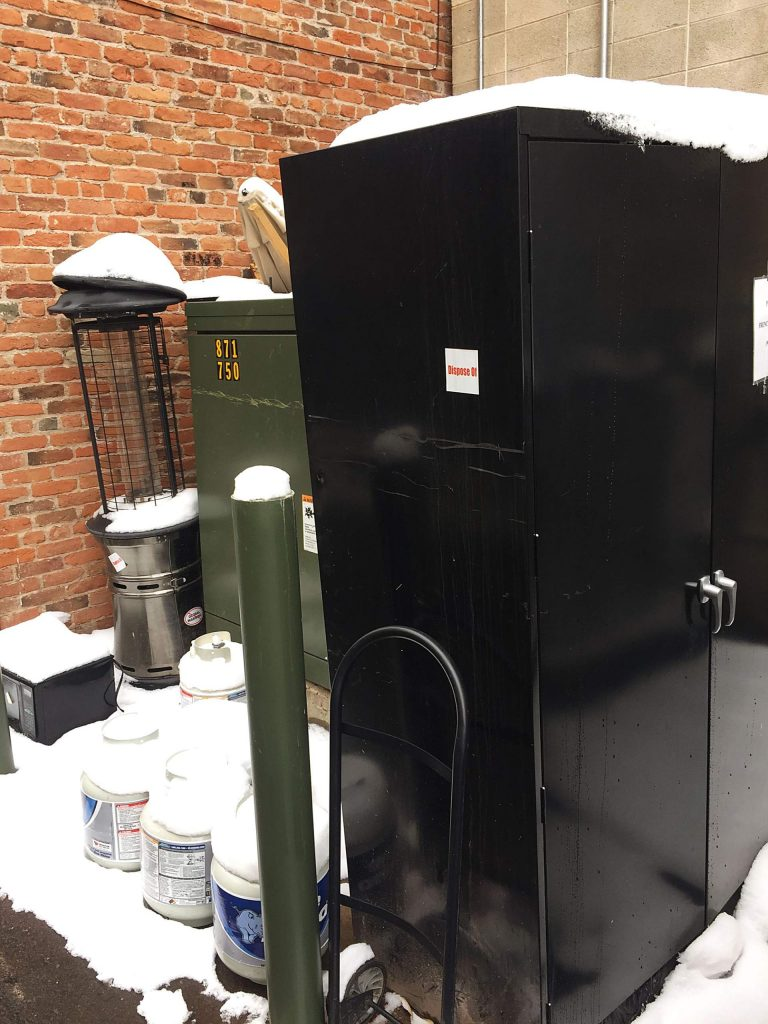 A propane heater, a microwave and a storage unit are just a few items that have been illegally dumped in a downtown Aspen alley. The city is going through all of the alleys on Thursday to dispose of the discarded items.