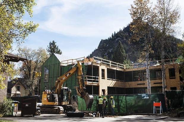 A new affordable housing rental complex is being constructed at 802 Main St. in a public-private partnership with the city of Aspen and a developer. Ten new apartments will be available in May in the building, along with 35 more in two different projects later this summer.