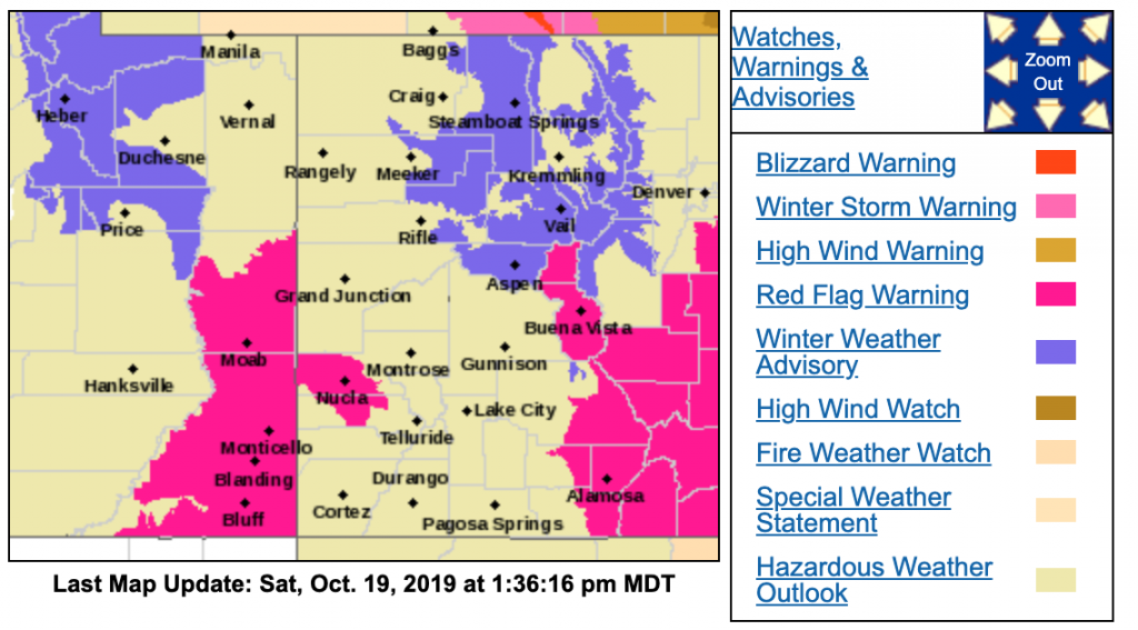 Winter storm forecast to hit Aspen area early Sunday; 4-8 inches of snow at higher elevations