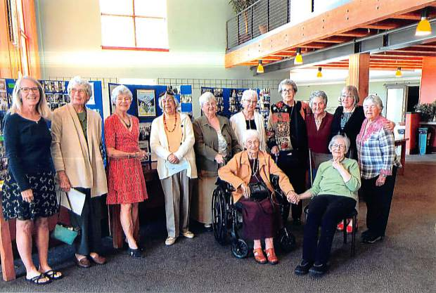 A memorable 100th year celebration of the Women's Literary Club was held at the Orchard in Carbondale on Sept. 12. Members and guests recounted histories and connections dating back to the club's original members from 1920. Pictured on the back row, from left to right, are Carolyn Barabe, Kathy Snyder, Nancy Thorpe, Jony Larrowe, Marlene Maddalone, Irene Conner, Joyce Kearns, Cheri Oates, Karen Stevenson and Barbara Guy. On the front row are Pat Maddalone and Luetta Whitson. Not pictured: Sara Oates, Susan Barrena, Dolores Stutsman, Sydny Tofany and Jill Sheeley.