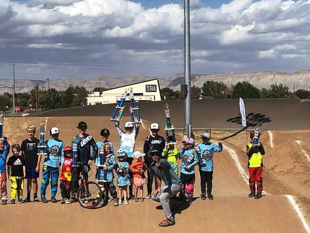Crown Mountain BMX racers represented in force at the state championships held in Grand Junction on Sept. 29.