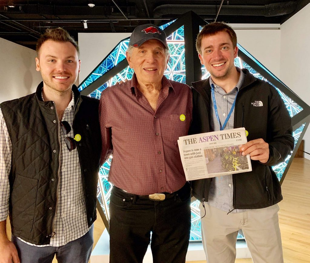 Friends Michael Slone, Steve Goldenberg and Lucas Gartman visited the Crystal Exhibition at the Crystal Bridges Art Museum in Bentonville, Arkansas, and they brought along The Aspen Times. Email your