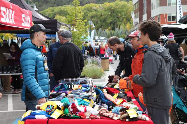 Shoppers take part in last year's Aspen Valley Ski and Snowboard Club ski swap in Willits.