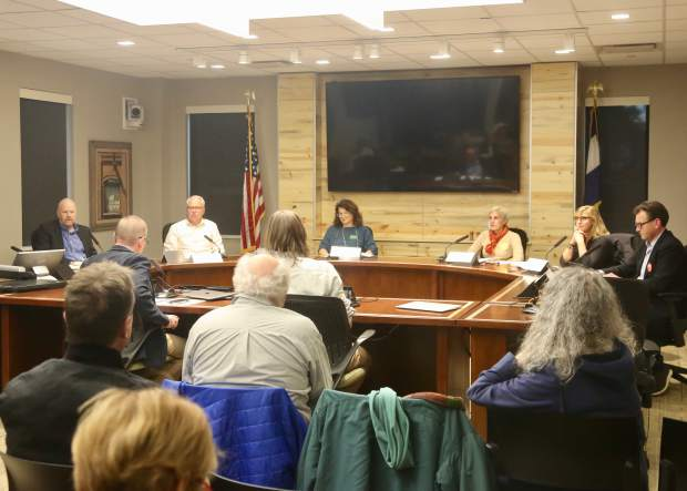 The Aspen School District Board of Education candidate forum on Thursday, Oct. 17, 2019, at the Pitkin County building in Aspen. (Photo by Austin Colbert/The Aspen Times)