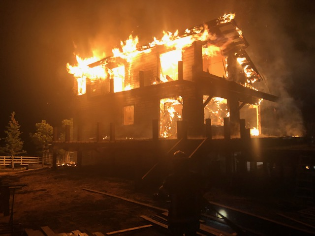 A fire early Tuesday morning destroyed a Missouri Heights house that was under a remodel. The 5,000-square-foot home was a total loss.