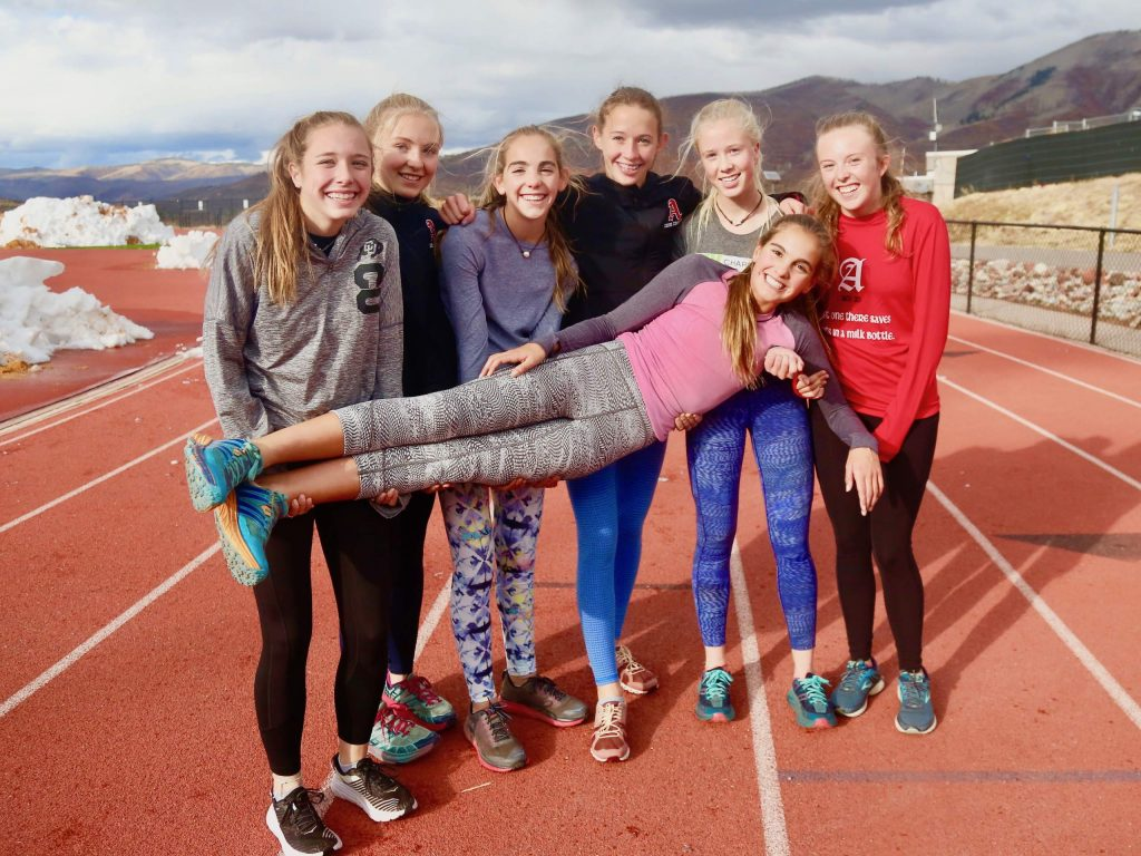 The Aspen High School girls cross country team will compete Saturday in the 3A state meet in Colorado Springs. (Photo by Austin Colbert/The Aspen Times)