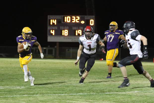 The Basalt High School football team hosts Paonia on Friday, Sept. 27, 2019, for homecoming on the BHS field. (Photo by Kara Williams)