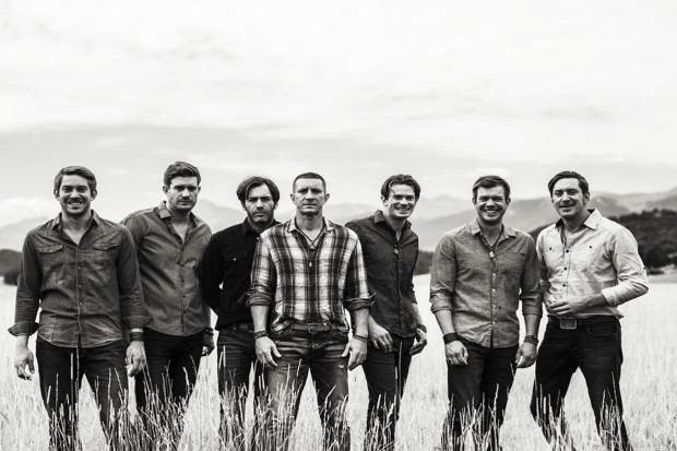 The Stanley Brothers, left to right,: J. Austin, Jesse, Jon, Josh, Jared, Jordan, and Joel.