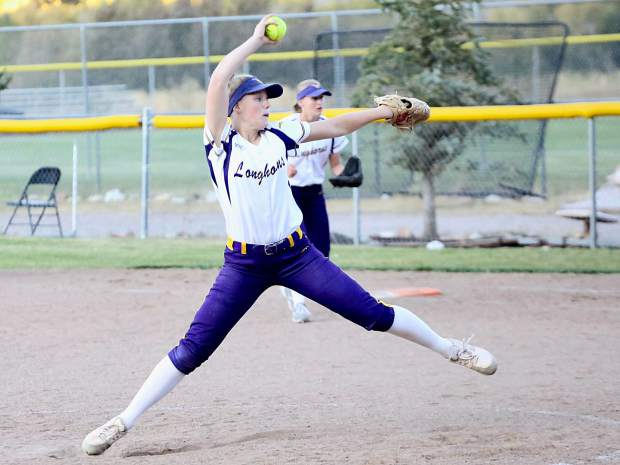 Basalt softball plays against Palisade on Tuesday, Oct. 8, 2019, in Basalt. The Longhorns will host their regional tournament on Saturday, Oct. 19.