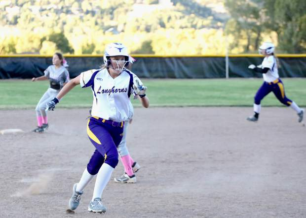 Basalt softball plays against Palisade on Tuesday, Oct. 8, 2019, in Basalt. (Photo by Austin Colbert/The Aspen Times)