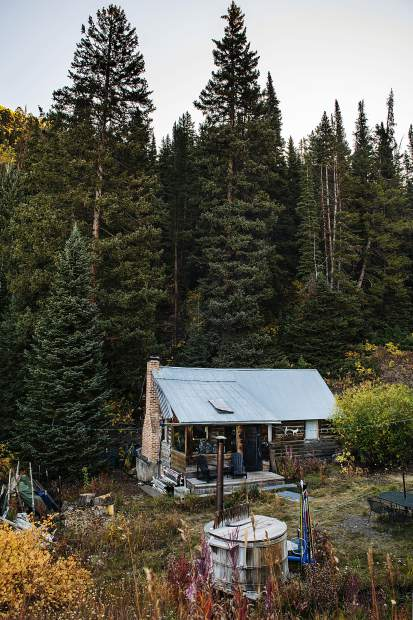 This old cabin pictured on Oct. 2 is typical of the residences on the backside of Aspen Mountain.