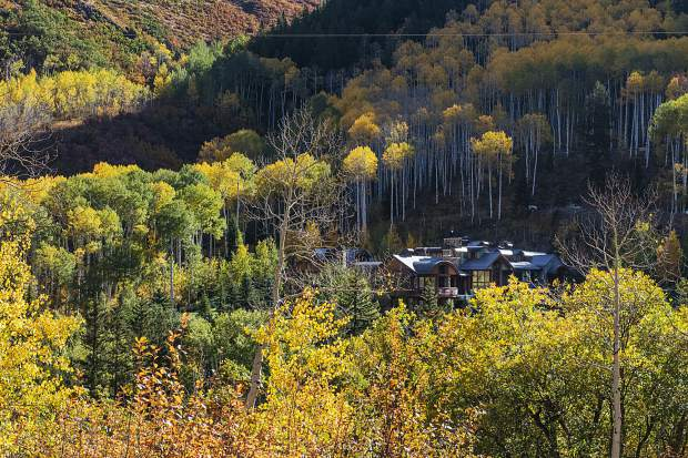A large home near the bottom of Midnight Mine Road, as shown on Oct. 2, signifies the type of development that could have proliferated on the backside of Aspen Mountain without a county downzoning 25 years ago.