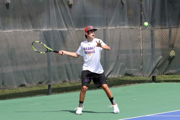 Basalt High School sophomore Jonas Kohout competes in a match earlier this season.