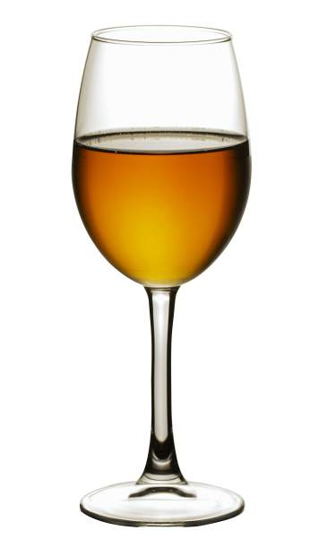 A glass of white wine on white background close-up still life image