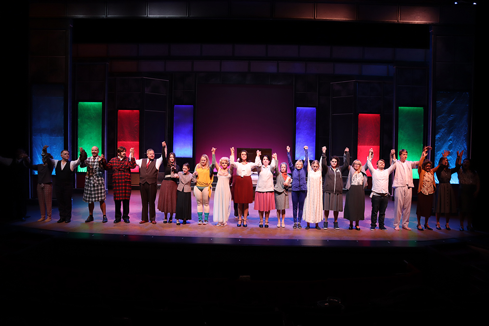 The curtain call at a dress rehearsal for