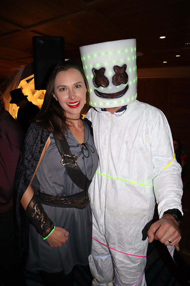 Marshmello and a lady friend making moves on Halloween.