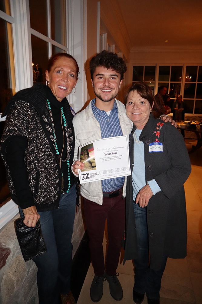 Judy Weber with student participant Tucker Bruce and his mom, Conni Bruce.