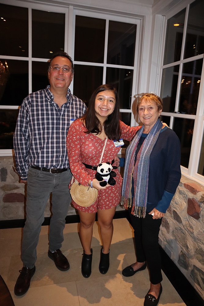 Chris Koch with niece Odalys Cruz Bonilla, who participated in Student Diplomacy Corps this summer, and Vivian Waldeck.