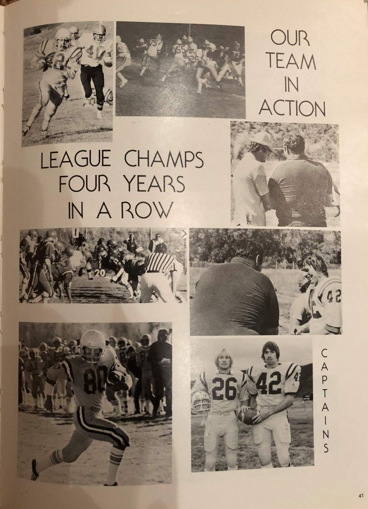 Clippings from the 1979-80 school yearbook.