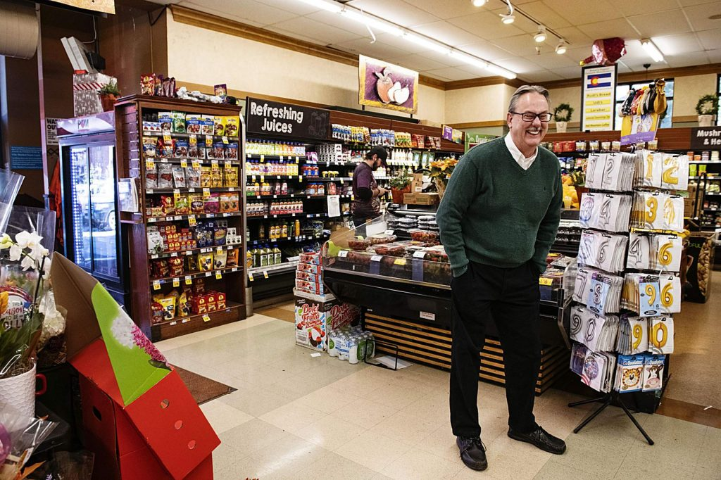 City Market general manager John Hailey stands in the front of the store in Aspen on Tuesday, November 12, 2019. Hailey has been the store's general manager since 1998.(Kelsey Brunner/The Aspen Times)