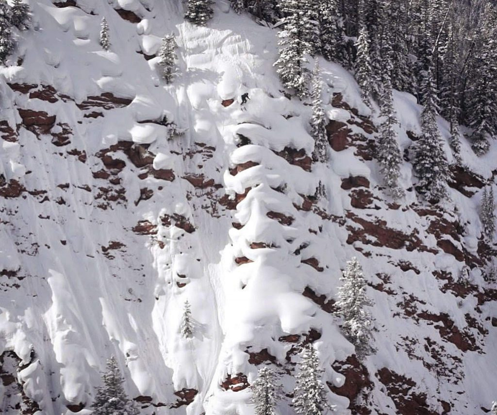 John Spriggs of Frisco skis pillows in the backcountry of Colorado in the ski film