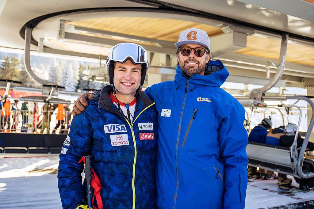 Vail ski racer Kyle Negomir, left, at Copper Mountain on Friday. Negomir is set to compete on the World Cup this season after winning the North America Cup last season.