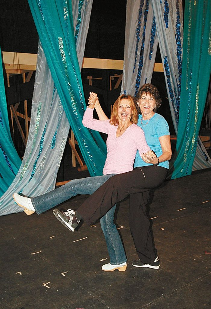 Rita Hunter, right, with co-producer Jody Hecht during preparations for the 2005 Aspen Community Theatre production of