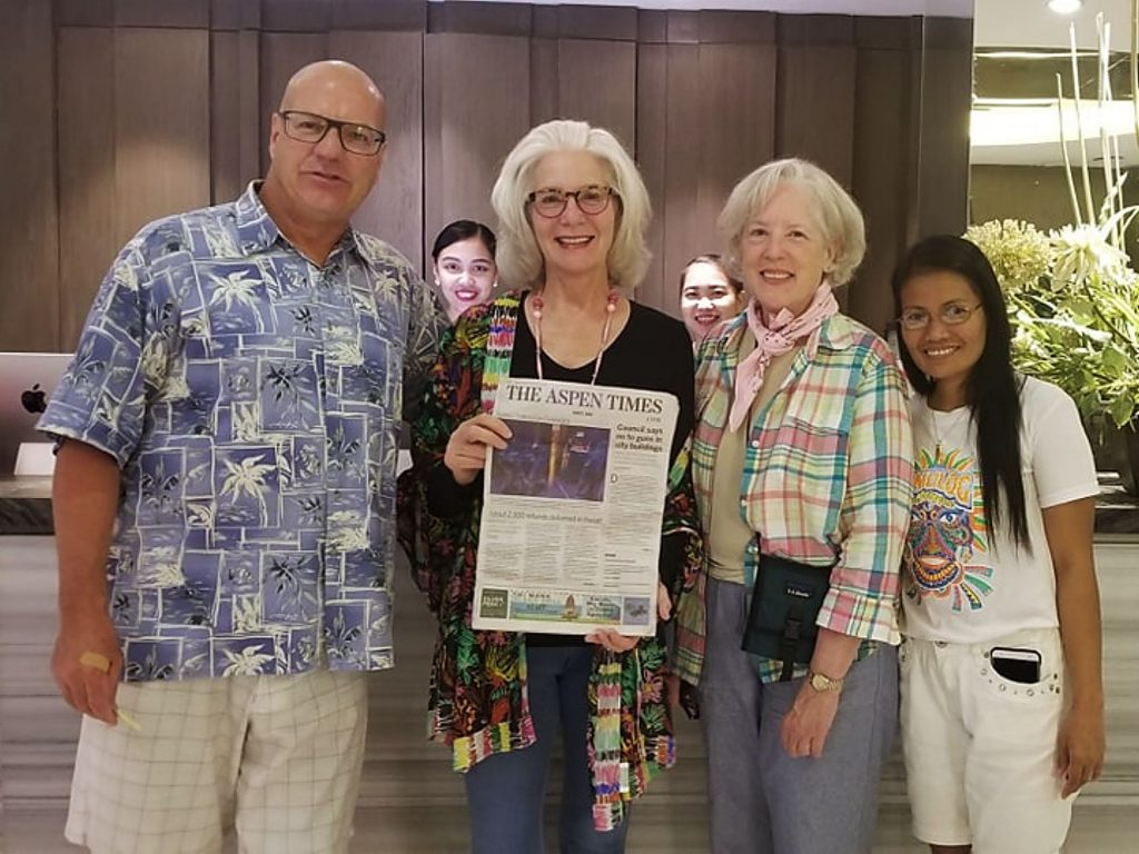 Aspen residents John O'Donoghue and Ann O'Brien of the Big Heart Children's Fund with Kit O'Brien and Gemma Felicen. The group has been working with the sisters and orphanages in Tacloban, Philippines, in an effort to help children living in extreme poverty.