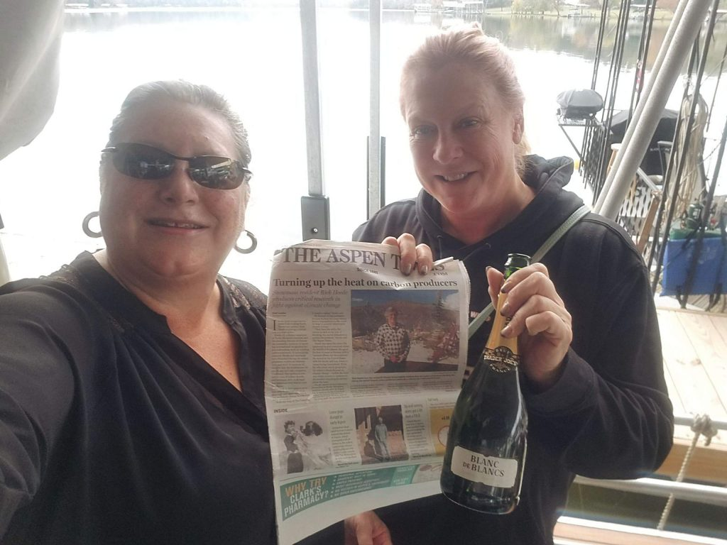 Readers Kathy Murphy and Julia Moretti brought a copy of The Aspen Times to Old Hickory Lake, about 25 miles upstream from Nashville, Tennessee. Email your