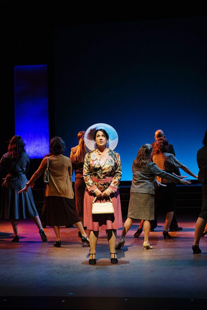 Amy Kaiser, as Judy Bernly, performs on stage during the first act of 9 to 5 during a dress rehearsal at the Aspen District Theatre on Wednesday, November 6, 2019. (Kelsey Brunner/The Aspen Times)