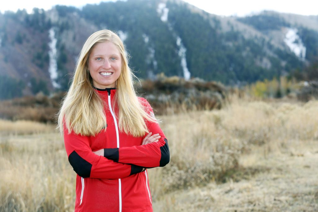 Nordic skier Hailey Swirbul poses for a photo on Monday, Oct. 22, 2018 in Aspen. (Photo by Austin Colbert/The Aspen Times).