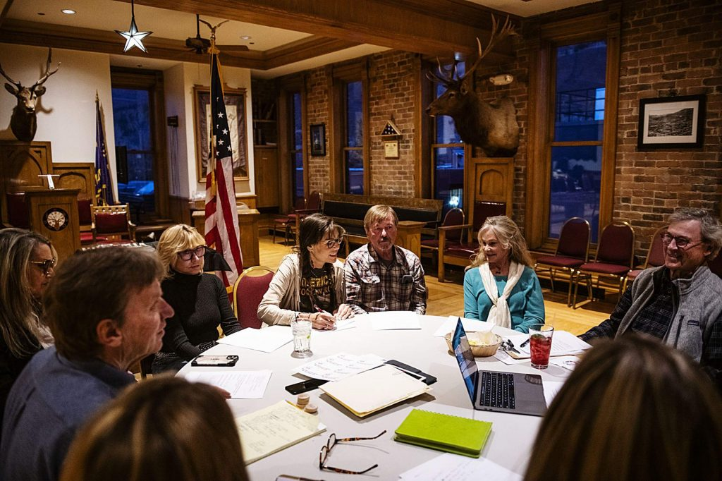 The Veterans Services Committee meet in the Elks Lodge in Aspen on Thursday, November 7, 2019. (Kelsey Brunner/The Aspen Times)