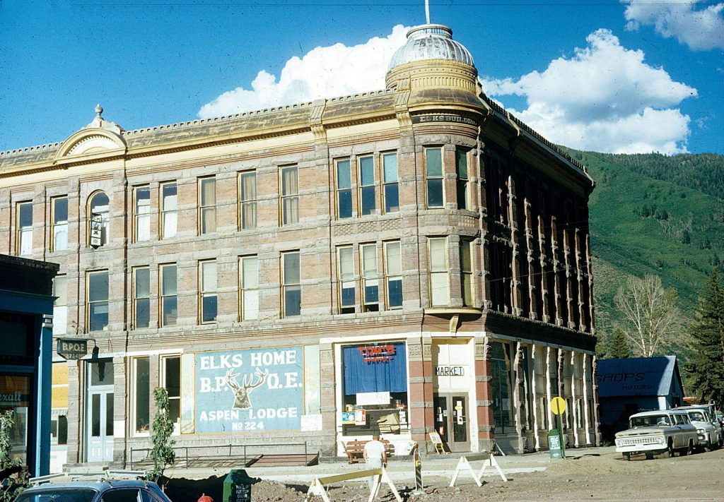 The Aspen Elks building photograhed in 1963.