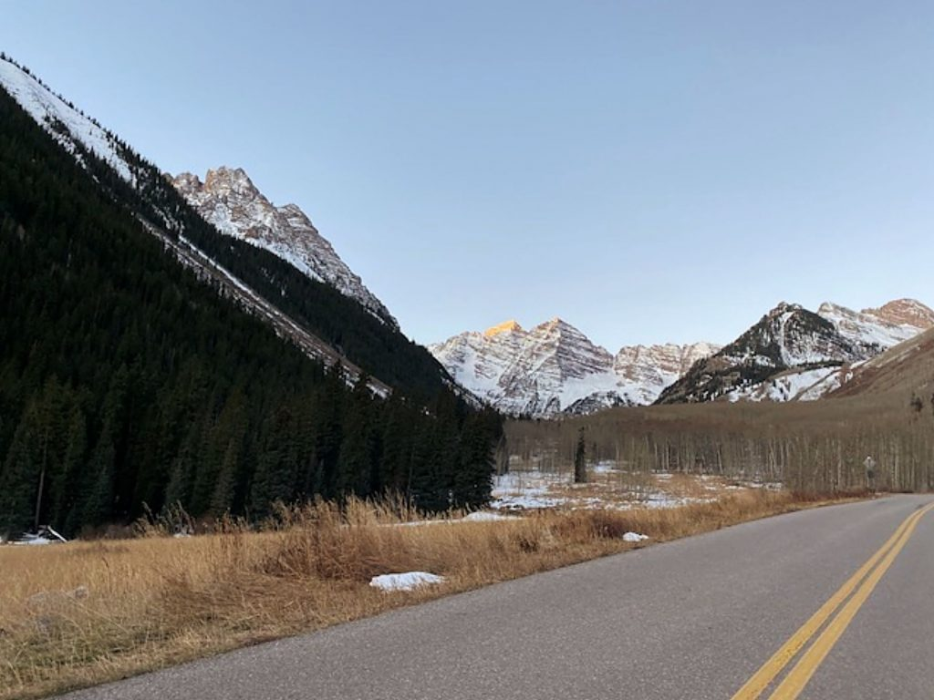 Maroon Creek Road leading to the Maroon Bells was closed Friday for the winter season. It typically reopens in mid-May.