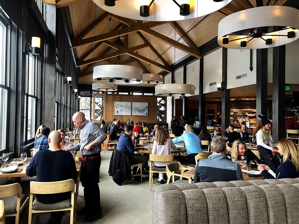 Over 50 people enjoy drinks appetizers and entrees at the new Sam's restaurant on Sam's Knob at Snowmass, Nov. 27, 2019. The eatery's menu dubs it