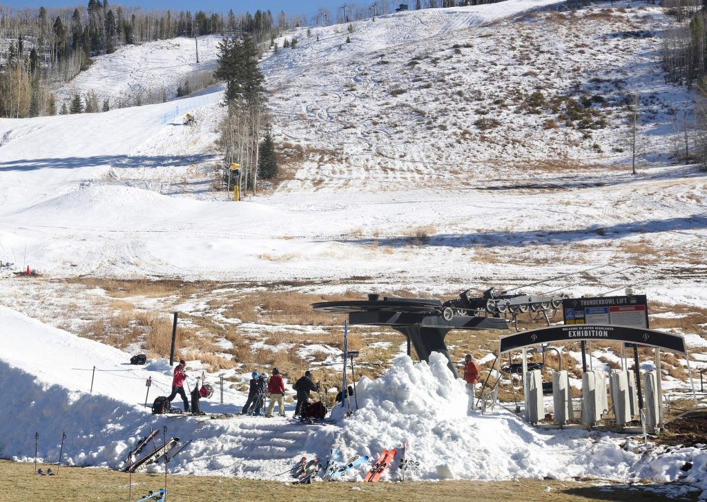 The Stapleton Training Center at Aspen Highlands, run by the Aspen Valley Ski and Snowboard Club, opened on Saturday, Nov. 9, 2019, the earliest opening in its six-year history. (Photo by Austin Colbert/The Aspen Times)