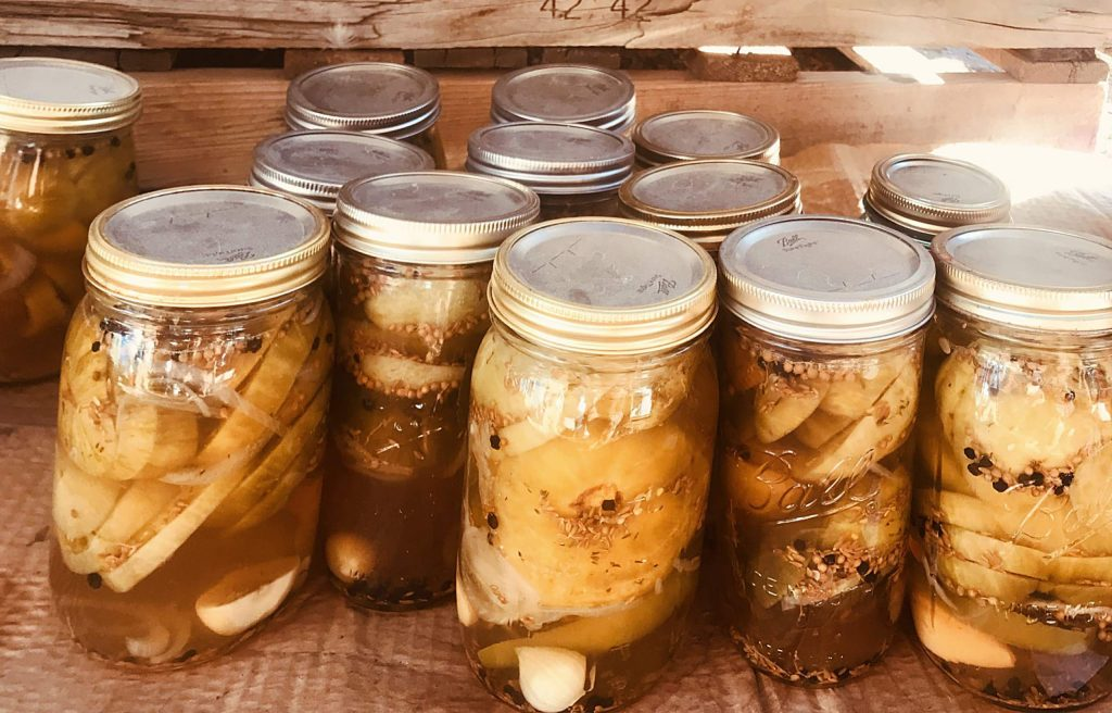 Some of the bounty from this fall's harvest at the Farm Collaborative was canned and jarred.