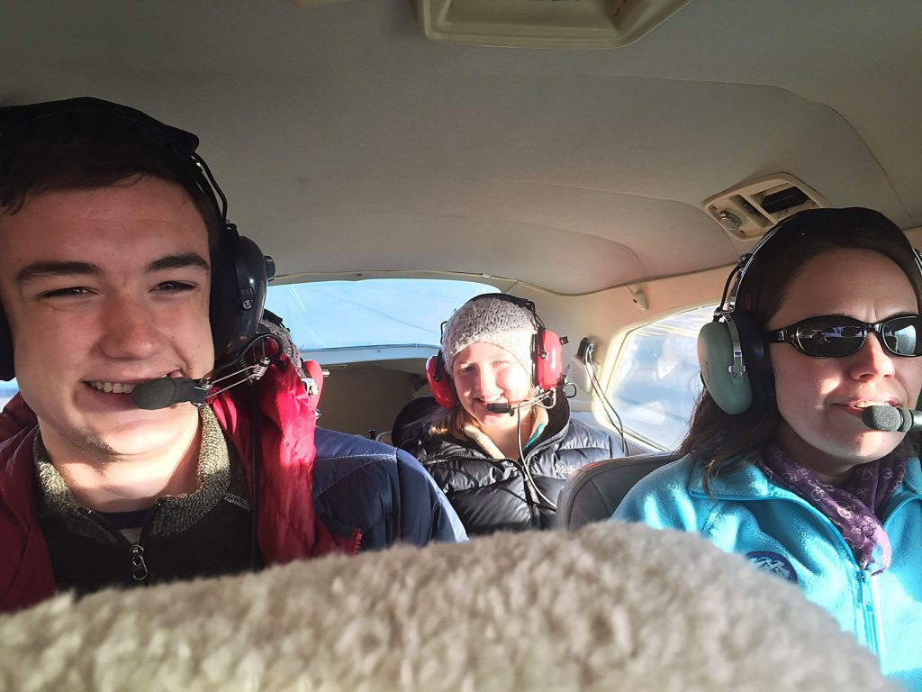 From left, youth water student leaders Aidan Boyd, Isla Brumly-Nelson and water education specialist and program founder Sarah Johnson. Students got a bird's-eye view of how humans have modified water in the Roaring Fork watershed.