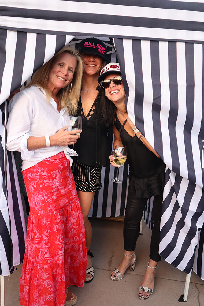 Abby Flanigan, Jill Alfond and Cyri Carifa in a cabana at Scarlett's.