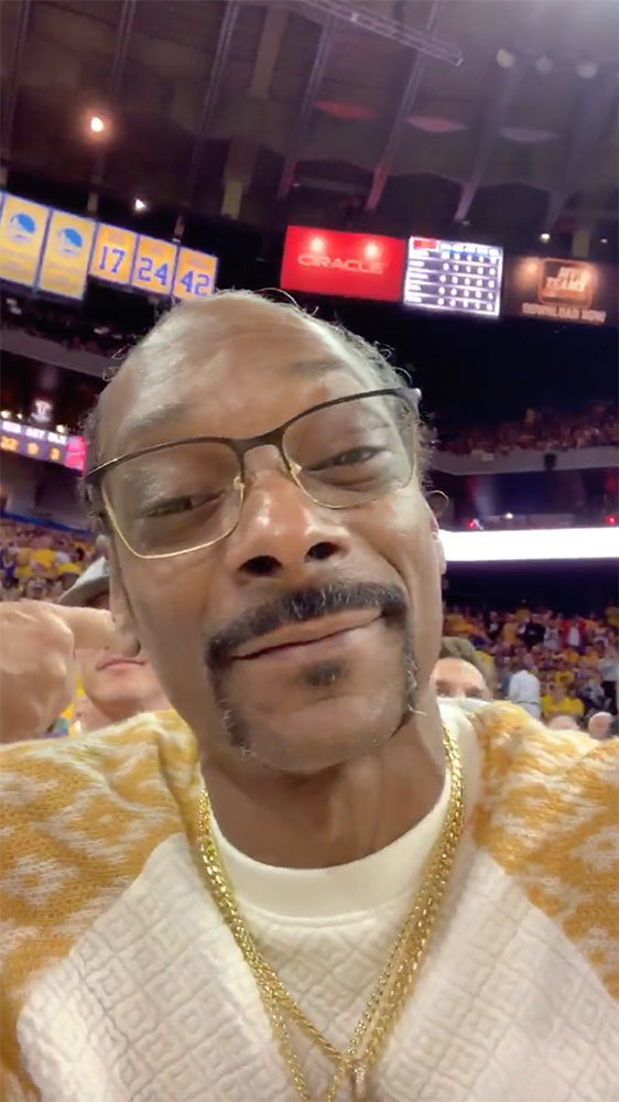 Snoop Dog wishing the birthday boy well