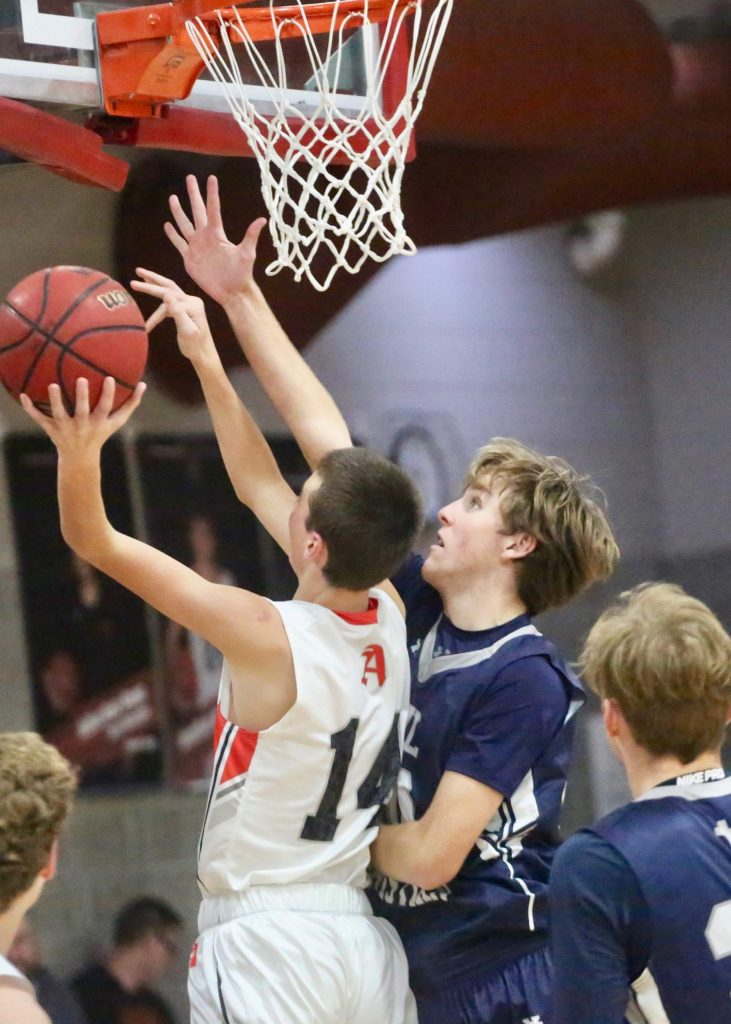Aspen High School basketball plays against Vail Christian on Thursday, Dec. 19, 2019, inside the AHS gymnasium. (Photo by Austin Colbert/The Aspen Times)