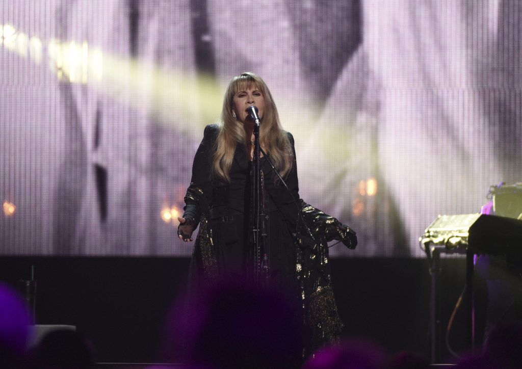 Stevie Nicks performs at the Rock & Roll Hall of Fame induction ceremony at the Barclays Center on Friday, March 29, 2019, in New York. (Photo by Evan Agostini/Invision/AP)