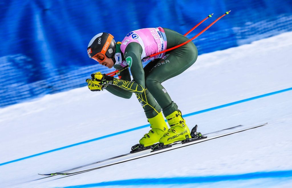 American Bryce Bennett, who finished seventh in the World Cup points in downhill last season, gets in his during Wednesday's Xfinity Birds of Prey Audi FIS Ski World Cup training run on Wednesday in Beaver Creek. The downhill race is 11 a.m. on Saturday.