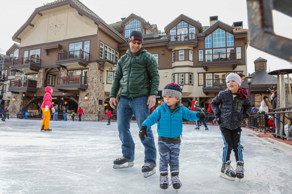 Beaver Creek t has free ice skating 6-10 p.m. each Monday in the plaza.