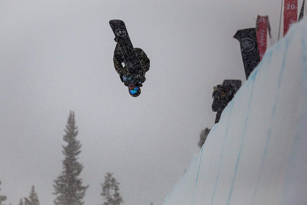 Chase Josey scores a 66.25 on his second run in the snowboarding halfpipe finals of the Land Rover U.S. Grand Prix at Copper Mountain, Colo. on Saturday, Dec. 14.