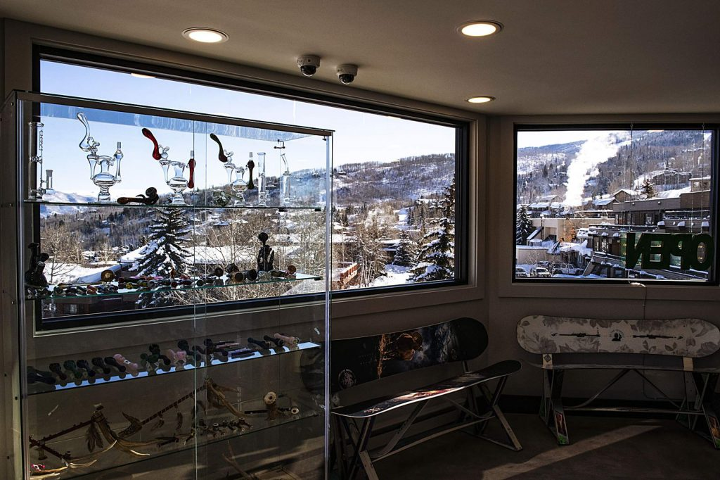 Mountain views can be seen from the large windows in the newly opened High Q in Snowmass Village Mall on Tuesday, December 17, 2019.