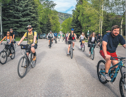 Bikers hit the street in June for the first Tuesday Cruiseday of the summer.