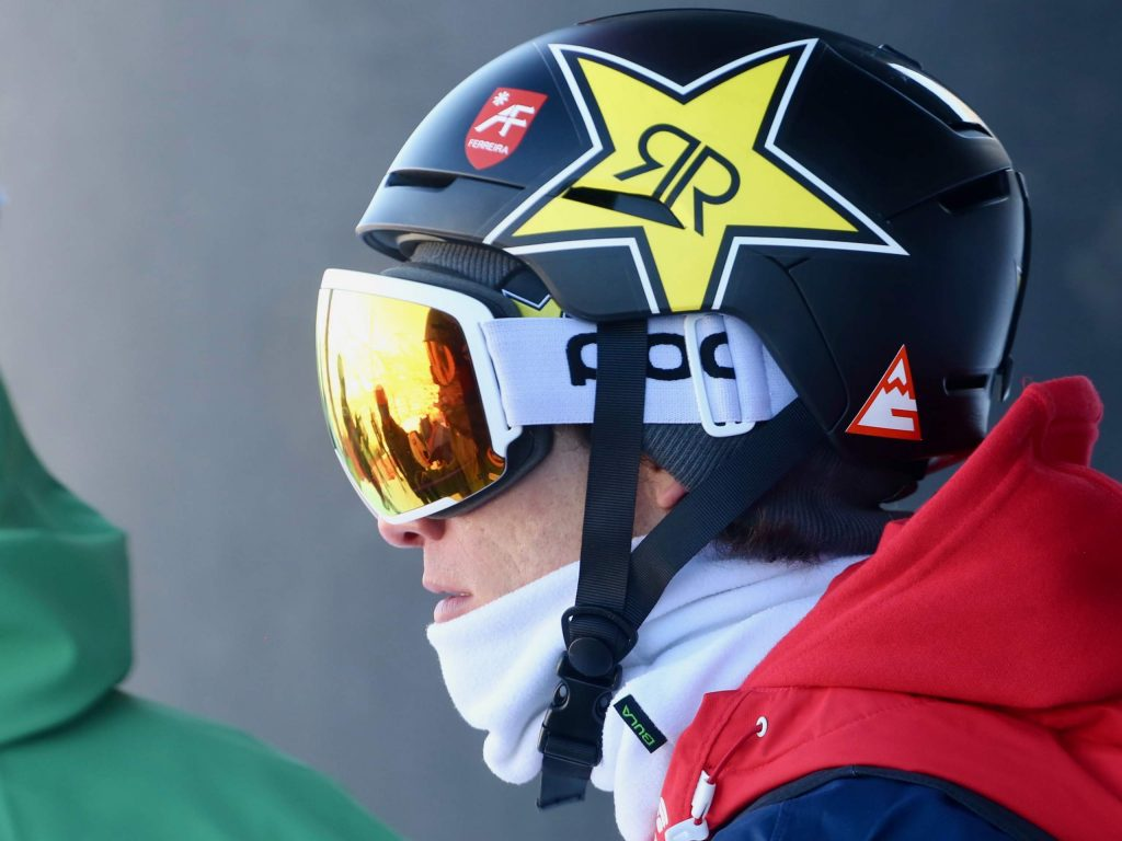 Aspen Olympian Alex Ferreira gets ready to compete in the semifinals of the Audi Ajax Cup on Monday, Dec. 30, 2019, at Aspen Mountain. (Photo by Austin Colbert/The Aspen Times)