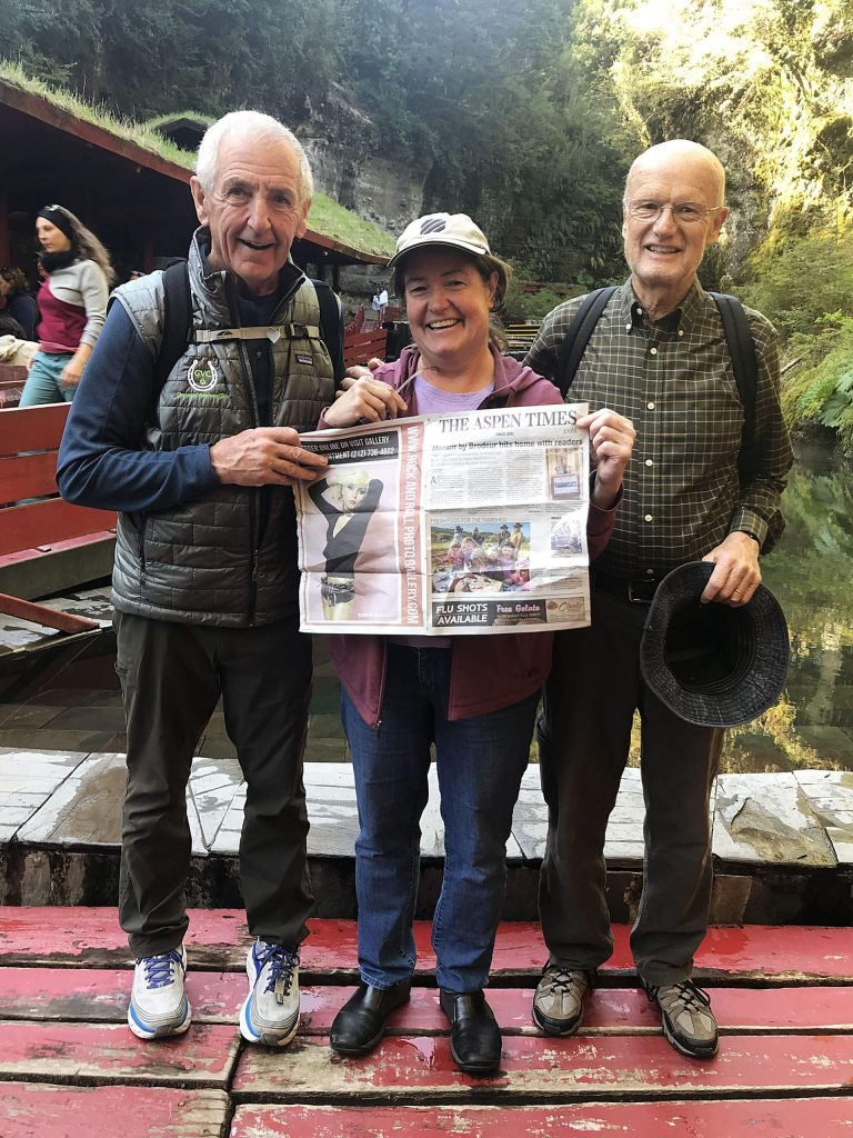 Retired veterinarian Jay Merriam joined Laurie Osier of Aspen and Jerry Krebs of Glenwood Springs with their Aspen Times in Pucon, Chile, for language immersion. Email your