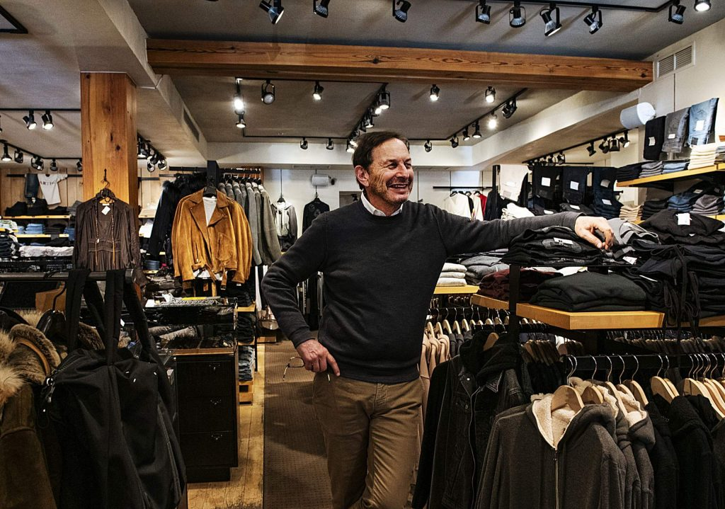 Owner of Pitkin County Dry Goods David Fleischer stands in his store on Tuesday, December 10, 2019. The Aspen retailer is turning 50. (Kelsey Brunner/The Aspen Times)